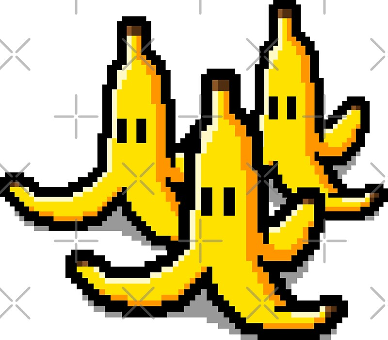 pixel banana skin stickers by r evolution gfx redbubble. Black Bedroom Furniture Sets. Home Design Ideas