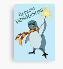 Harry Penguin - Expecto Penguinum! Canvas Print