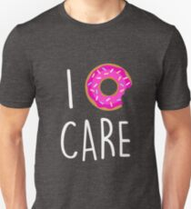 I Donut Care Funny Pun Quote Pink Cute Sprinkles T-Shirt