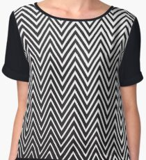 Diagonal Oblique Edgy Zigzag Lines Pattern in Vector Women's Chiffon Top