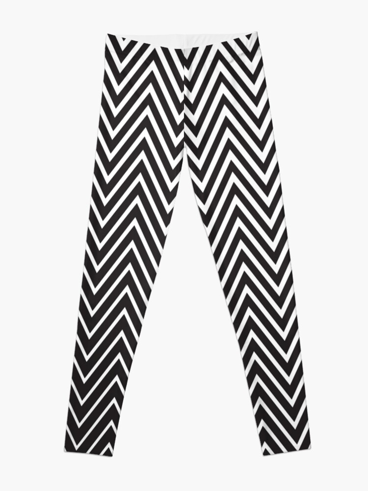 Diagonal Oblique Edgy Zigzag Lines Pattern in Vector | Leggings