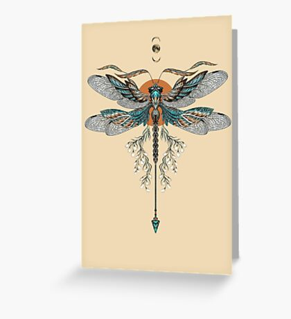 Dragon Fly Tattoo Greeting Card