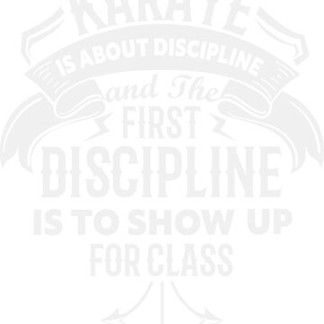 Karate is about Discipline by sgnakbud