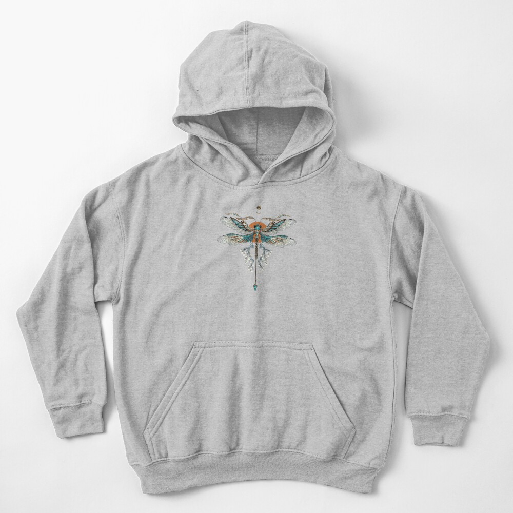 Dragon Fly Tattoo Kids Pullover Hoodie