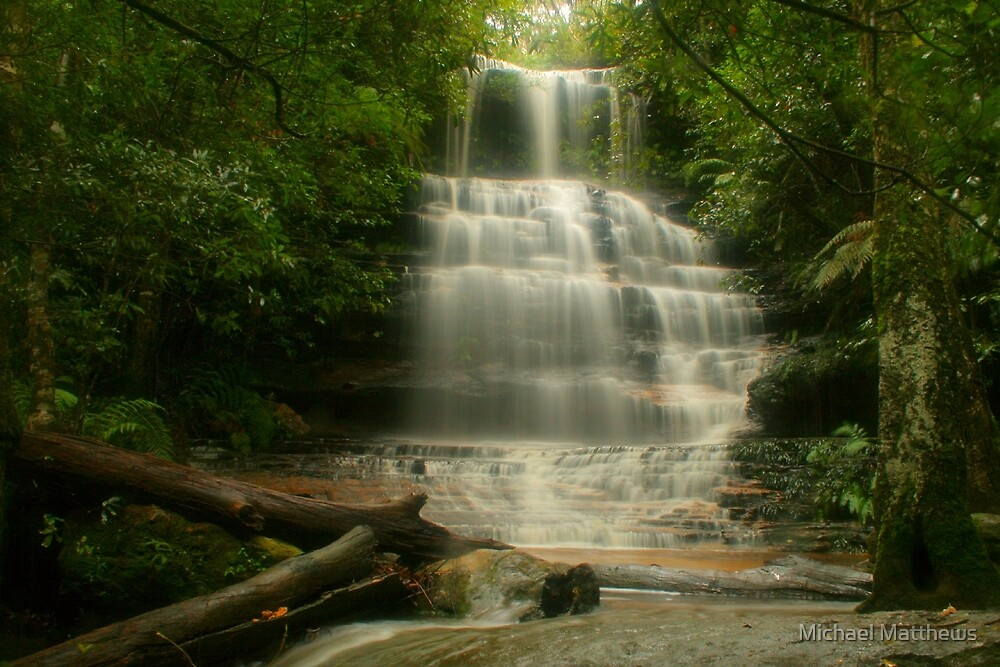 Tranquility at Junction Falls by Michael Matthews
