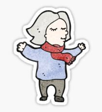 cartoon middle aged woman Sticker