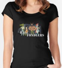 Ball fondlers!! t-shirt Women's Fitted Scoop T-Shirt