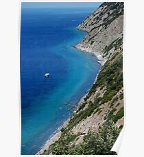 Amalfi Coast Cliff  Poster