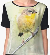 Yellow Warbler Chiffon Top