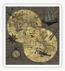 Travel around the world Sticker