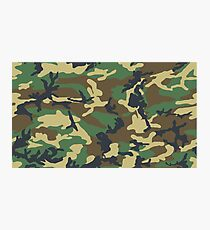 army Camouflage Photographic Print