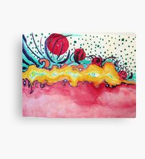 Caterpillar, abstract ink painting. Canvas Print
