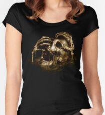 Black Sails Golden Skull Women's Fitted Scoop T-Shirt