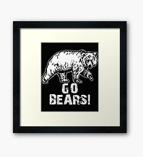 Go Bears Sports Team Games  Framed Print