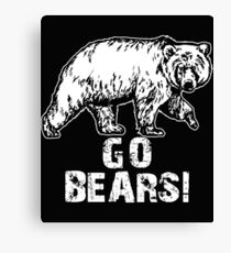Go Bears Sports Team Games  Canvas Print