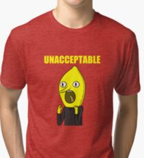 Lemongrab Unacceptable Tri-blend T-Shirt