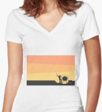 Pink Floyd Live At Pompeii Women's Fitted V-Neck T-Shirt