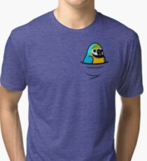 Too Many Birds! - Blue & Gold Macaw Tri-blend T-Shirt