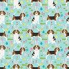 Beagle easter eggs spring holiday cute dog breed pattern design beagles by PetFriendly