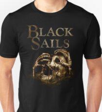 Black Sails Golden Skull Logo Slim Fit T-Shirt