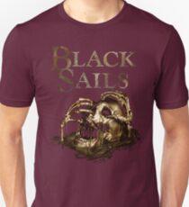 Black Sails Golden Skull Logo T-Shirt