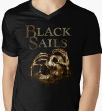 Black Sails Golden Skull Logo T-Shirt