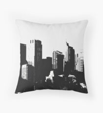 Big City Buildings Black & White Throw Pillow