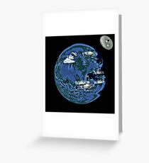 unrealistic earth. Greeting Card
