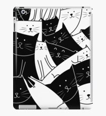The Cats are Watching B/W iPad Case/Skin