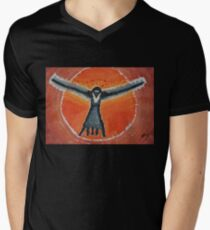 Bluebird Shaman original painting T-Shirt