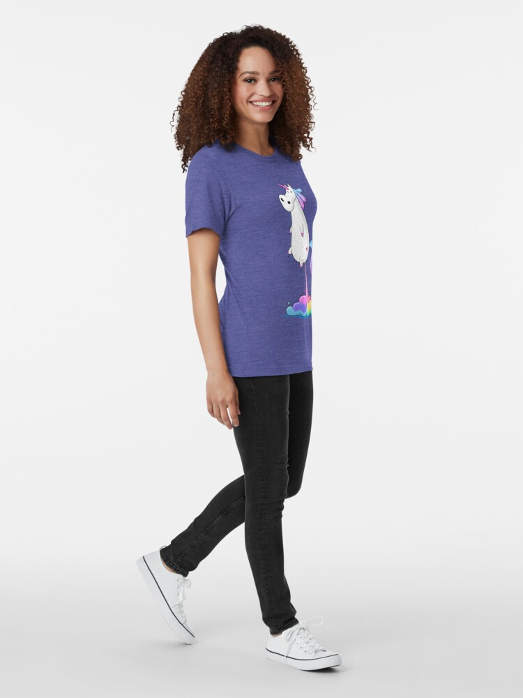 Alternative Ansicht von Einhorn Furz Vintage T-Shirt