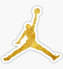 Gold Jordan Logo Sticker