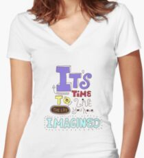 Its time! Women's Fitted V-Neck T-Shirt