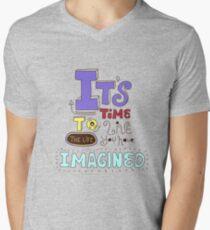 Its time! Mens V-Neck T-Shirt