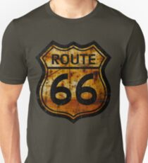 ROUTE 66 RUSTED SIGN Unisex T-Shirt