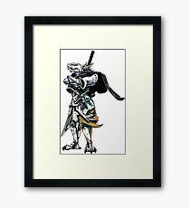 White Dragonborn Paladin Framed Print