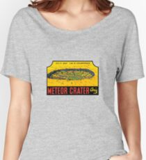 Meteor Crater Arizona Vintage Travel Decal Women's Relaxed Fit T-Shirt