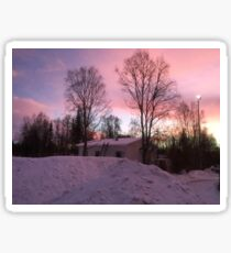 Beautiful Twilight in Lapland Sticker
