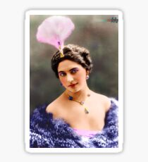 The Real Mata Hari Colorized Sticker