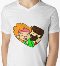 Heart-shaped couple Men's V-Neck T-Shirt