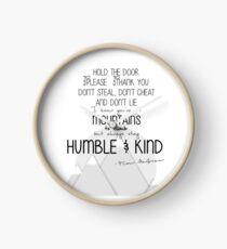 Humble and Kind Clock