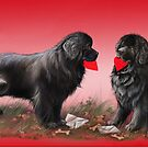 Newfie valentine by Patricia Reeder Eubank