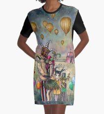 Ten of Cups Tarot Carnival Art from 78 Tarot Fantasy Graphic T-Shirt Dress