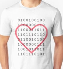 """Say """"I Love You"""" in binary code Unisex T-Shirt"""