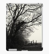 trees, fence and countryside iPad Case/Skin