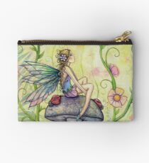 A Happy Place Flower Fairy and Ladybugs Studio Pouch