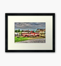 Antique pickup truck at Blue Mountain 2 - HDR Framed Print