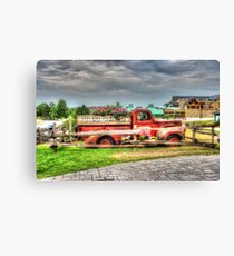 Antique pickup truck at Blue Mountain 2 - HDR Canvas Print