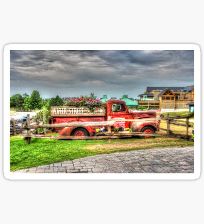 Antique pickup truck at Blue Mountain 2 - HDR Sticker