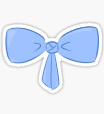 Blue Bow Sticker